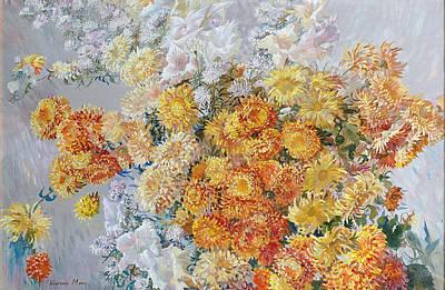Yellow Chrysanthemum Original by Maya Gusarina