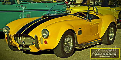 Carroll Shelby Photograph - Yellow Cobra by Gwyn Newcombe