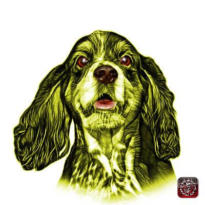 Dog Mixed Media - Yellow Cocker Spaniel Pop Art - 8249 - Wb by James Ahn