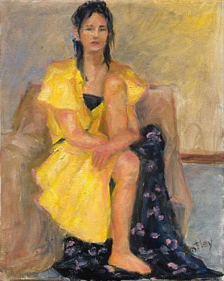 Yellow Dress Original by Rita Bentley
