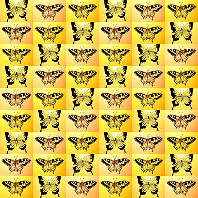 Luna Moth Drawing - Yellow Fantasy by Cathy Jacobs