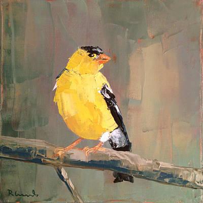 Yellow Finch Original by Nathan Rhoads