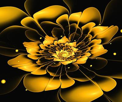 Woman Digital Art - Yellow Flower by Anastasiya Malakhova