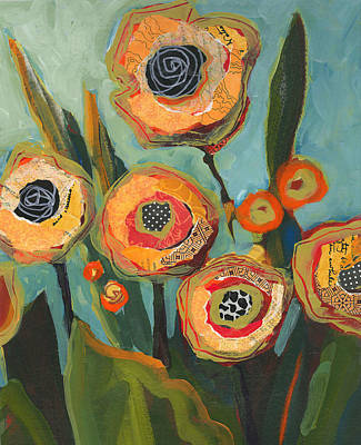 Painting - Yellow Flowers No2 by Shelli Walters