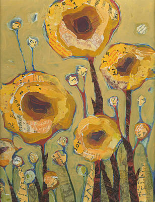 Painting - Yellow Flowers No3 by Shelli Walters