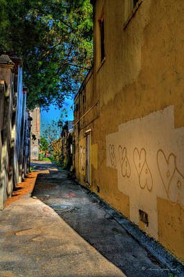 Corridor Photograph - Yellow Hearts by Marvin Spates