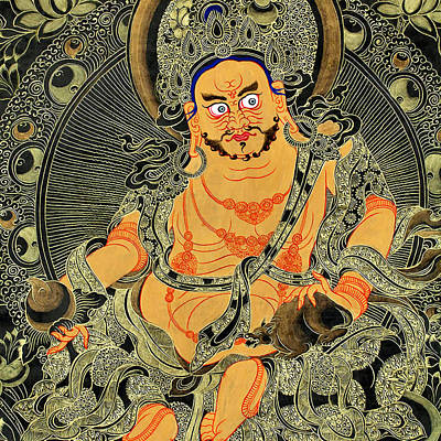 Tibetan Buddhism Photograph - Yellow Jambhala 30 by Lanjee Chee