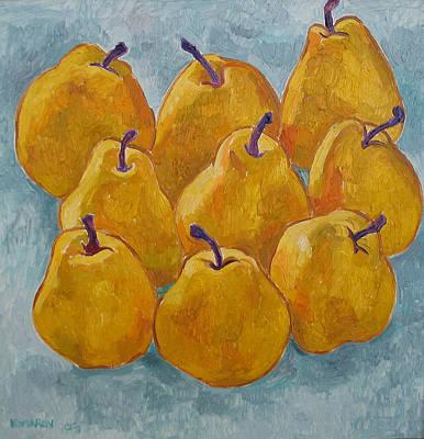 Yellow Pears Print by Vitali Komarov