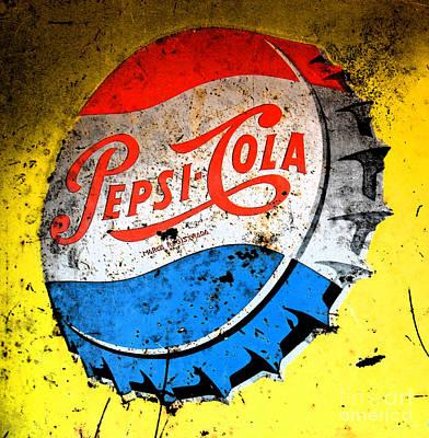 Yellow Pepsi Pop Art Print by Gary Everson