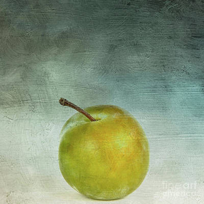 Single Digital Art - Yellow Plum by Bernard Jaubert