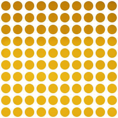 Invitations Digital Art - Yellow Polka Dots by Art Spectrum