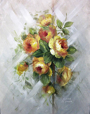 Yellow Roses Print by David Jansen