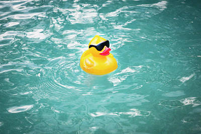 Yellow Rubber Duck Print by Rich Franco