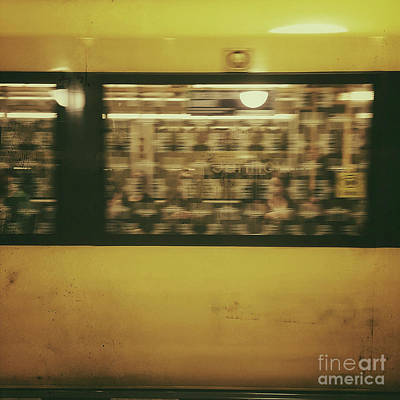 Bahn Photograph - Yellow Subway Train by Ivy Ho