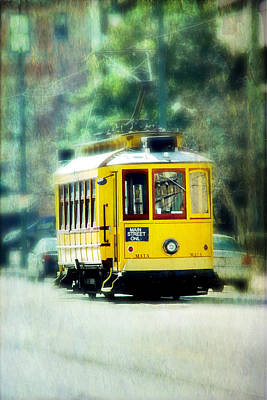 Yellow Trolley Print by Suzanne Barber