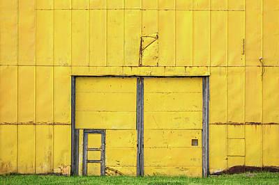 Hangar Photograph - Yellow Wall by Todd Klassy