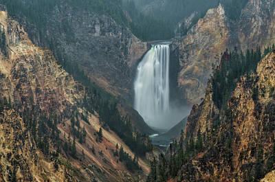 Waterfall Photograph - Yellowstone Falls In The Mist by Loree Johnson