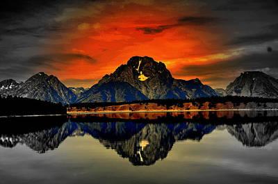 Eagls Digital Art - Yellowstone Park1 by Aron Chervin