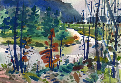 Yellowstone Painting - Yellowstone River by Donald Maier