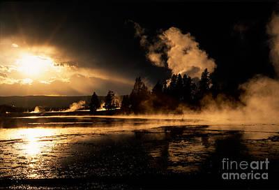 Yellowstone River Sunrise Print by Sandra Bronstein