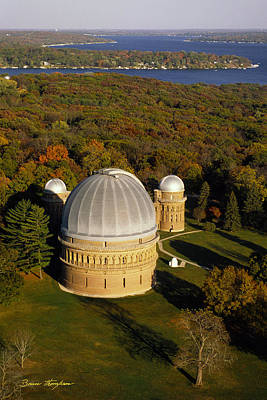 Yerkes Observatory - Aerial View - Lake Geneva Wisconsin Print by Bruce Thompson