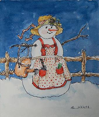 Yes, There Is A Snow-gal Original by Barbara Wirth