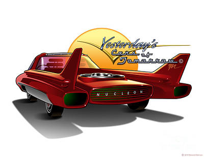Prototype Digital Art - Yesterdays Cars Of Tomorrow by Marshall Robinson