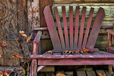 Empty Chairs Photograph - Yesterday's Chair by Bonnie Bruno