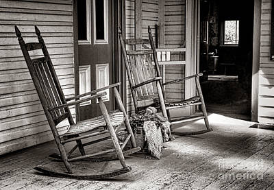 Rocking Chairs Photograph - Yesteryear by Olivier Le Queinec