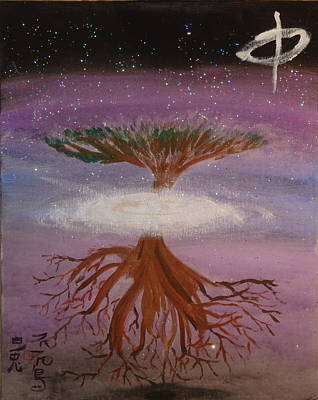 Yggdrasil Painting - Yggdrasil For A New Millennium  by White Rabbit  Studio