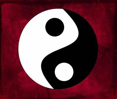 Round Digital Art - Yin And Yang by Marianna Mills