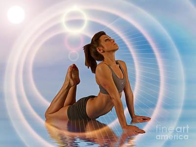 Yoga Girl 1209206 Print by Rolf Bertram