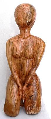 Meditation Sculpture - Yoga Kneeling Lady by Eric Kempson