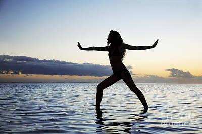 Yoga On The Coastline Print by Brandon Tabiolo - Printscapes