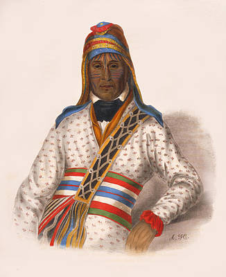 Drawing - Yoholo-micco A Creek Chief by Unknown