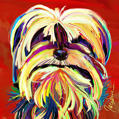 Dogs Painting - Yorkie 4 by Jackie Jacobson