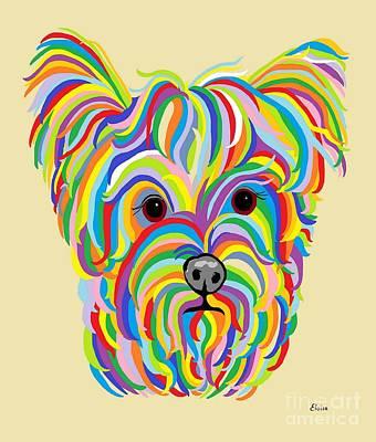 Puppy Painting - Yorkshire Terrier ... Yorkie by Eloise Schneider