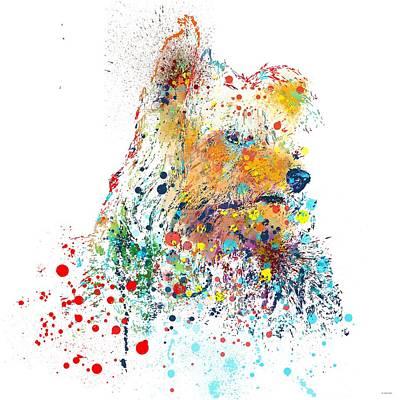 Pet Portraits Digital Art - Yorkshire Terrier by Marlene Watson