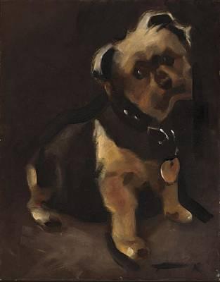 Dog Painting - Yorkshire Terrier Portrait Art Print by Tommervik