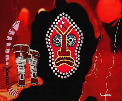 Yoruba Collection Shango Print by Andrea N Hernandez