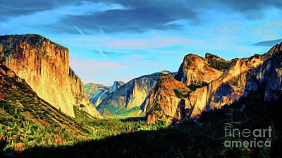 Yosemite National Park Mixed Media - Yosemite Basin by Kathy Franklin