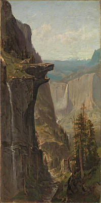 Yosemite Painting - Yosemite Falls From Glacier Point by William Keith