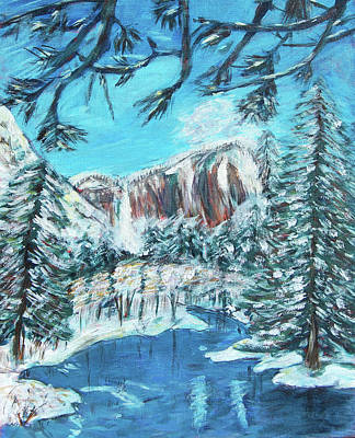 Yosemite In Winter Print by Carolyn Donnell