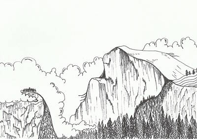 Yosemite National Park Drawing - Yosemite by Jaclyn Fields