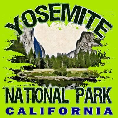 Yosemite National Park Digital Art - Yosemite National Park by David G Paul