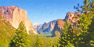 Yosemite National Park Print by Impressionist Art