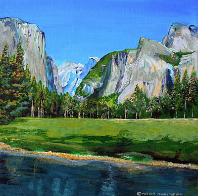 El Capitan Painting - Yosemite National Park In The Spring by Charles and Stacey Matthews