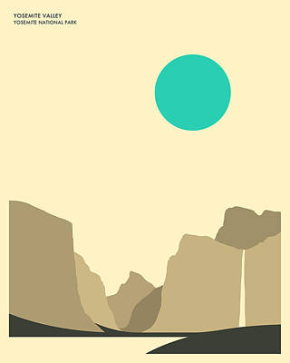 Yosemite National Park Print by Jazzberry Blue