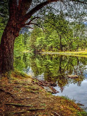Falls Photograph - Yosemite Reflections Left by LeeAnn McLaneGoetz McLaneGoetzStudioLLCcom