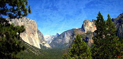 Three Sisters Digital Art - Yosemite - The Valley Of Inspiration  by Glenn McCarthy Art and Photography